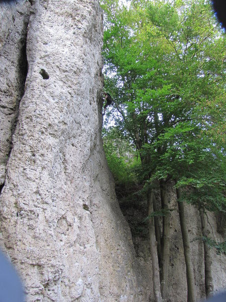 Rock Climbing Photo: Most of the routes here have some degree of overha...