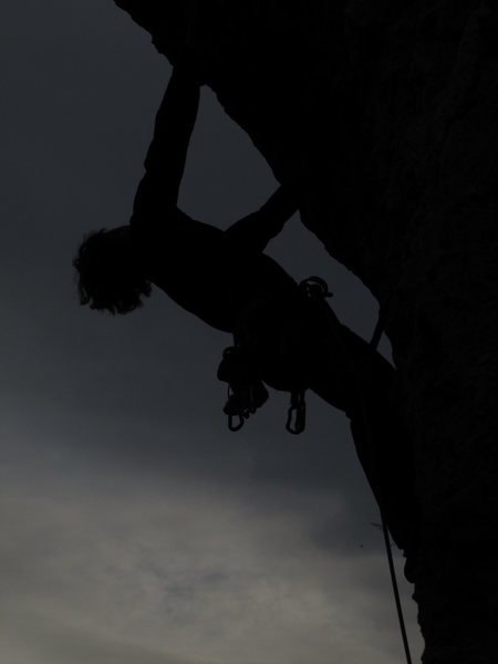 Rock Climbing Photo: I couldn't resist uploading this cool silhouette m...
