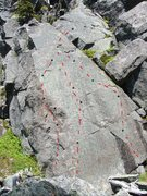 Rock Climbing Photo: This has three bolted lines on it.  Some of the li...