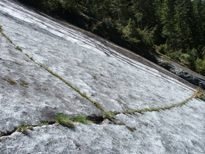 Rock Climbing Photo: Lines in the Granite Sidewalk