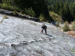 Rock Climbing Photo: Long scramble up the Granite Sidewalk