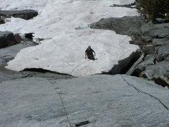 Rock Climbing Photo: Josh on Pitch 1 of Westward Ho 5.9