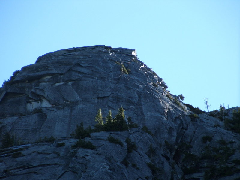 Rock Climbing Photo: Exfoliation dome catching the morning light.