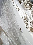 Rock Climbing Photo: Fancy Farnan couloir on Flattop, RMNP