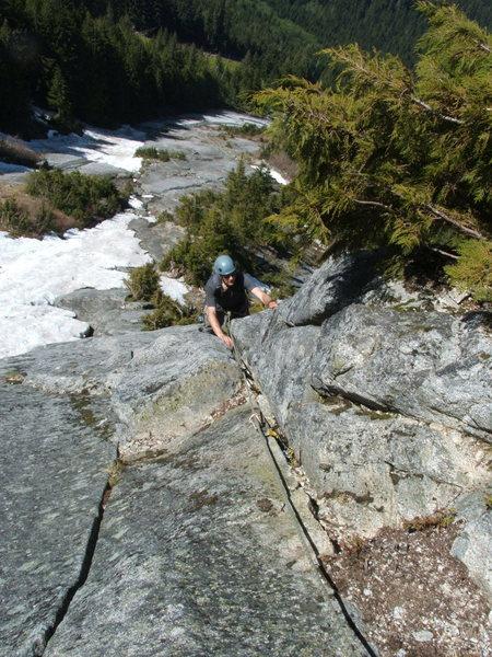 Rock Climbing Photo: Blueberry Route 5.9