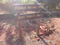 Rock Climbing Photo: This is the sign at the trailhead.