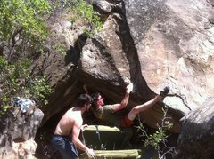 Rock Climbing Photo: One of the stellar projects in the upper Gutter ar...