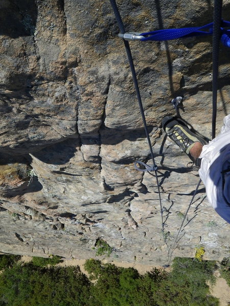 Looking down from the anchor for routes 4,5,6 while TR soloing.