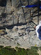 Rock Climbing Photo: Looking down from the anchor for routes 4,5,6 whil...