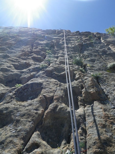Rock Climbing Photo: Looking up routes 4 & 5.