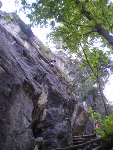 Rock Climbing Photo: Good climbing on a cool summer evening.