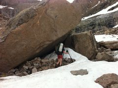 Rock Climbing Photo: Someone should bring a shovel up and clear out the...