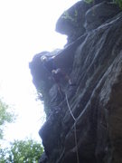 Rock Climbing Photo: Eric getting steep at the finish.