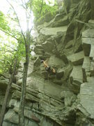 Rock Climbing Photo: Scoping out this beautiful climb about midway up. ...