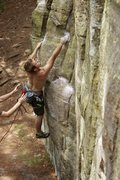 Rock Climbing Photo: If you're shorter this deadpoint move could be tou...