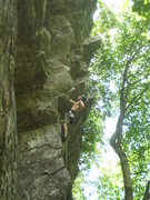"Rock Climbing Photo: ""Resting"" in the steepness."