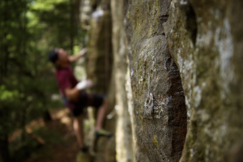 Rock Climbing Photo: Necedah stone. Andy on Early Times.