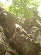 """Rock Climbing Photo: At the big funky roof with the """"bird's nest&q..."""