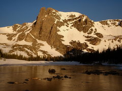 Rock Climbing Photo: Two Rivers Lake and Notchtop at sunrise.