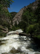 "Rock Climbing Photo: High water in the Sheep Mtn gorge ""the Califo..."