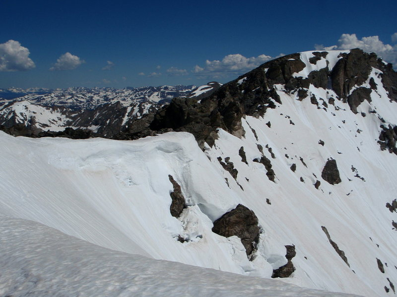 The South Ridge and North Arapahoe, from about the halfway point, on July 3rd, 2011.