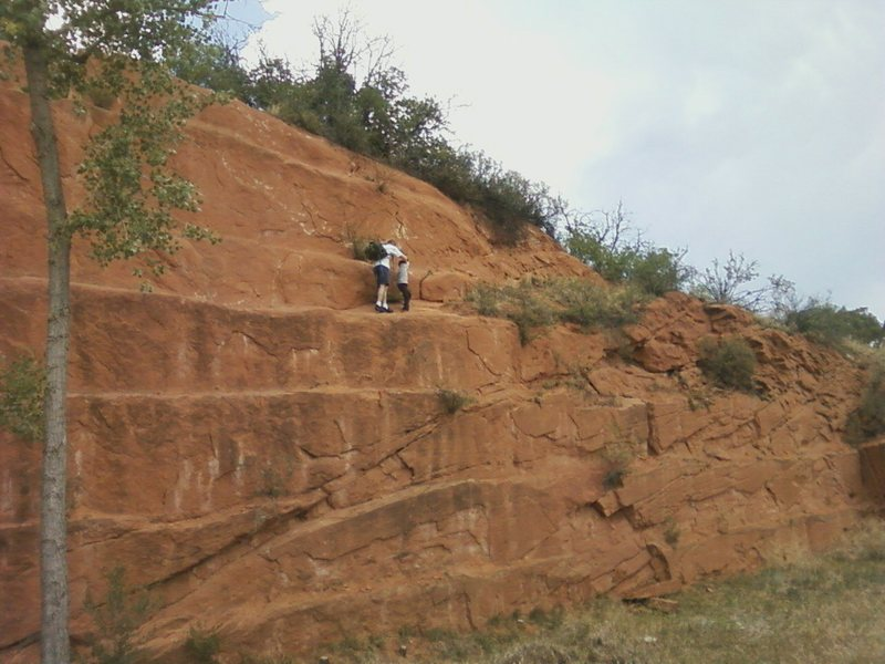 Rock Climbing Photo: Father and son at Red Rocks.