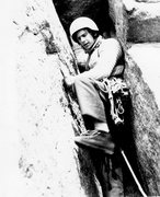 Rock Climbing Photo: Roger at the Gunks 1972
