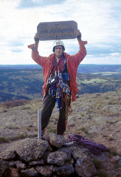 Rock Climbing Photo: Atop Devils Tower June 1973