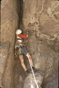 Rock Climbing Photo: Roger on By Gully, Castle Rock 1973