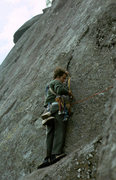 Rock Climbing Photo: Dan on Gamesmanship, Pokomoonshine 1975