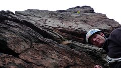 Rock Climbing Photo: Looking up from the belay ledge on Kirschnerweg. T...