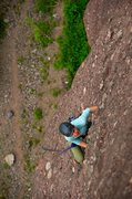 Rock Climbing Photo: Allison well above the crux roof on the second pit...