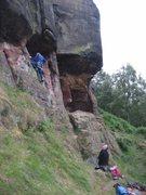 Rock Climbing Photo: Starting Twin Caves Crack (photo Phil Ashton)