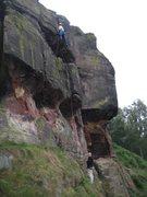 Rock Climbing Photo: Above the second overhang (photo Phil Ashton)