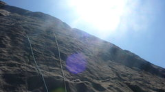 Rock Climbing Photo: Paul smooth sailing high on P2.
