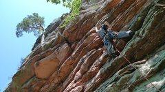 Rock Climbing Photo: First pitch of Direkter Normalweg.