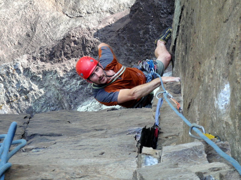 Rock Climbing Photo: Greenville local Tony Jones getting established in...