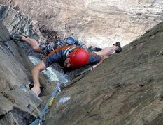Rock Climbing Photo: Tony Jones stemming the open book...like a boss