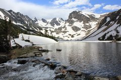 Rock Climbing Photo: Shoshoni Peak from Lake Isabelle.