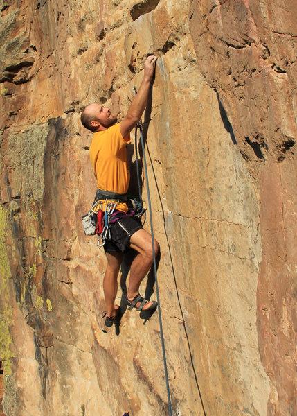 Rock Climbing Photo: Alex gettin' it going.