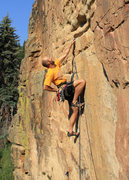 Rock Climbing Photo: Cruising past the crux.