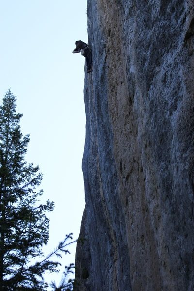 Rock Climbing Photo: Stefan lavender on Galactic Emperor. Photo by Mike...
