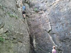 Rock Climbing Photo: A good first lead.