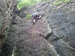 Rock Climbing Photo: Leading Jena's Face @ Barn Bluff.