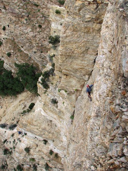 Rock Climbing Photo: Wayne Pullman on the way up.