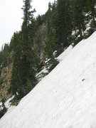 Rock Climbing Photo: The average slope of the upper half of the route.