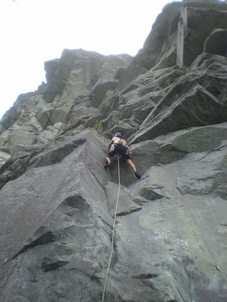 Rock Climbing Photo: Getting into the R section with lots of flaky loos...