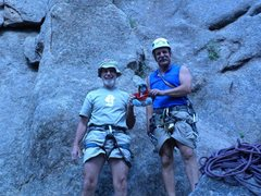 Rock Climbing Photo: I met these two nice men at the base of Zamboni Ma...