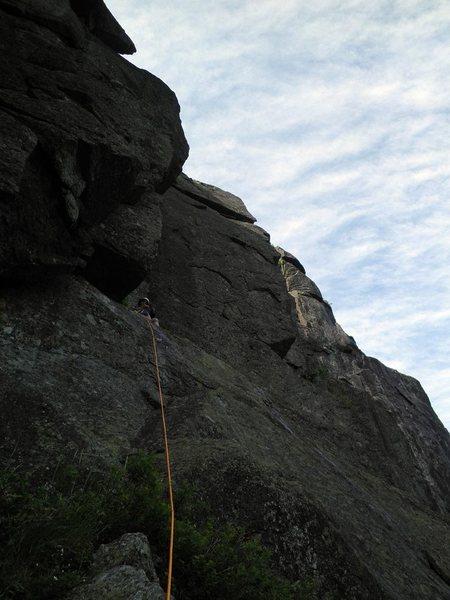 Rock Climbing Photo: Pitch 4, The Diagonal