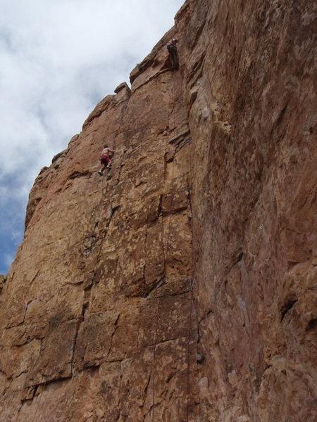 Rock Climbing Photo: Damn Right, Spiney Ridge, Shelf Road